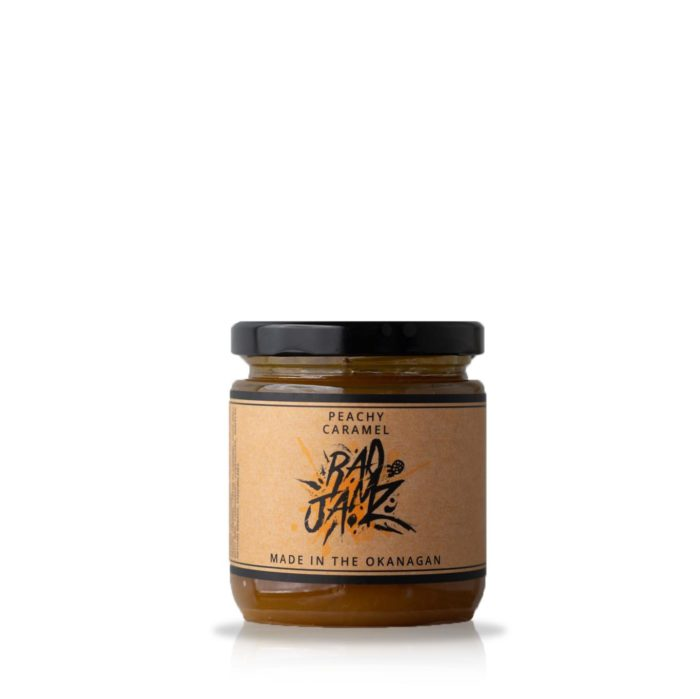 peach and caramel flavored Okanagan jam made with local produce